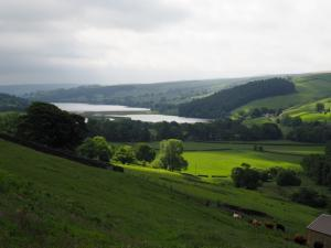 Looking back at Gouthwaite Reservoir