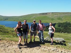 Group shot above Scar House Reservoir