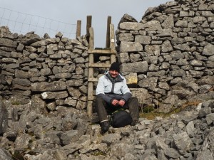 David enjoying a break at Beggar's Stile