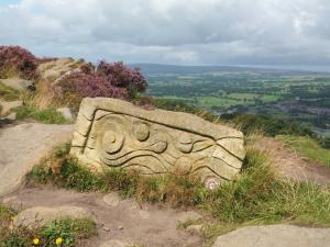 One of the sculptures on the Chevin Sculpture Trail