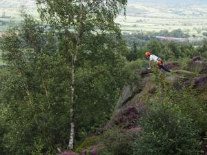 Climbers on Caley Crags