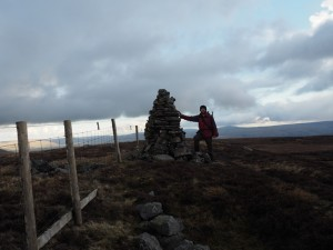 On the summit of Oxnop Common
