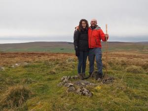 Lisa and I on the top of Parson's Pulpit