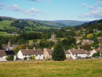 The lovely view of Pateley Bridge from the churchyard