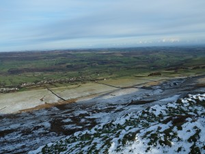 The superb view of West Witton and Wensleydale from Penhill Scar