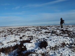 On the featureless summit of Height of Hazely