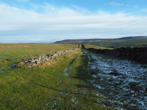 The bridleway leading back to Carlton