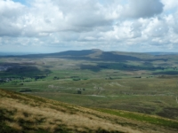 The view across Ribblesdale towards Ingleborough