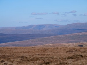 The distant Howgill Fells