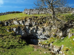 A cave near Pen-y-ghent House