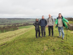 Group shot at the end of Langthwaite Lane