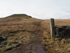 Looking back up at Penhill