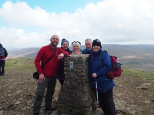 Group shot on the summit of Penyghent