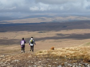 The tremendous view as we descended Penyghent