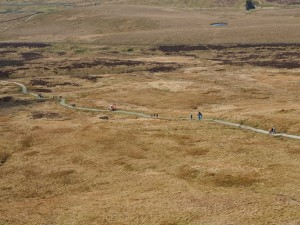 Looking down on the Pennine Way