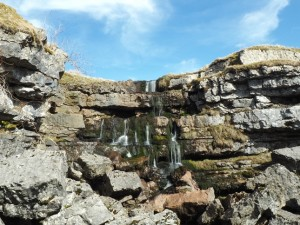 The small waterfall above Hunt Pot