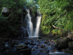 The first waterfall in Posforth Gill