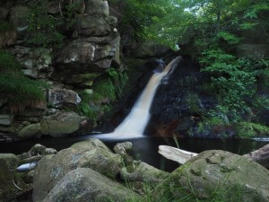 The second waterfall in Posforth Gill
