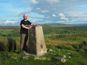 By th North Nab trig point