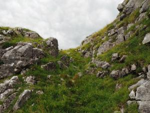 The gap in the limestone