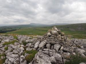 The cairn on the summit of Warrendale Knotts
