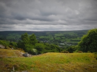 Looking down at Pateley Bridge from the path