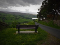 A bench with a glorious, if overcast view, on Wath Lane