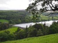 Looking down at Gouthwaite Reservoir