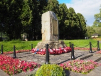 The war memorial in the Recreation Ground