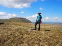 On the summit of Simon Fell with Ingleborough in the background