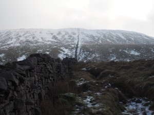 My route up onto Simon Fell was alongside this wall