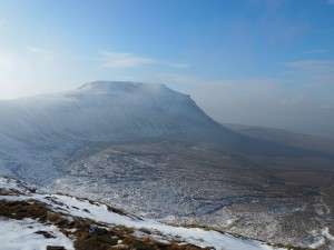 Looking across Humphrey Bottom towards Ingleborough