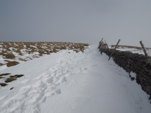 Following the wall on to the summit of Simon Fell