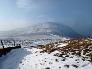 Looking back at Ingleborough
