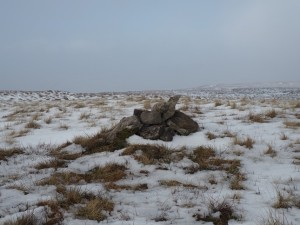 The small pile of stones on the top of Simon Fell