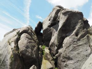 Gritstone outcrops on Simon's Seat