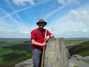 By the trig point