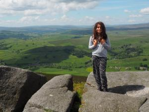 Rhiannon on Simon's Seat