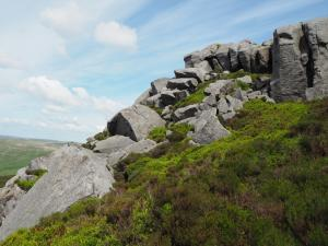 The summit rocks of Simon's Seat