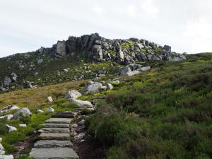 Looking back up at Simon's Seat