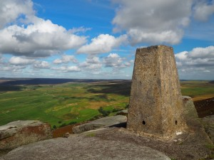 The Simon's Seat trig point