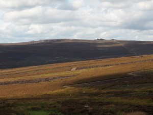 Looking back to Barden Fell