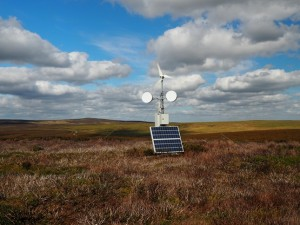 A small weather station on Hazelwood Moor