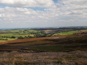 The view towards Thruscross Reservoir