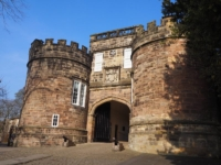 The gatehouse to Skipton Castle