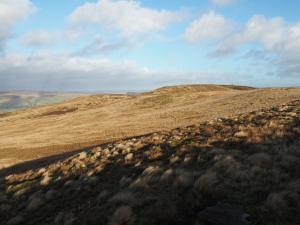 Looking towards the top of Skipton Moor
