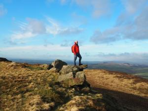 On my favourite rock on Skipton Moor