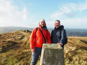Tony and I by the trig point