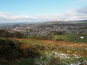 Looking down on Skipton
