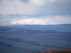 A wintry looking Pendle Hill